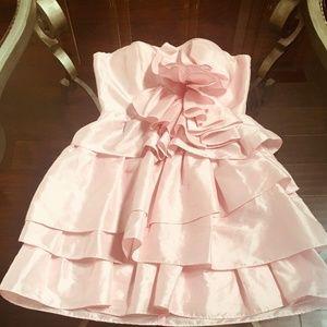 Arden B Dresses - Pink Arden B. Tiered Mini Dress